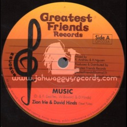 """Greatest Friends Records-7""""-Music / Zion Irie & David Hinds (Steele Pulse)"""