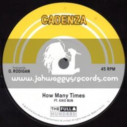 "Cadenza-7""-How Many Times / Kiko Bun + Poison Dart / Interface And Kerwin"