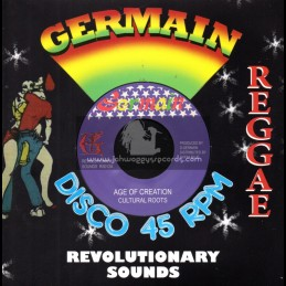 """Germain Disco 45-7""""-Age Of Creation / Cultural Roots"""