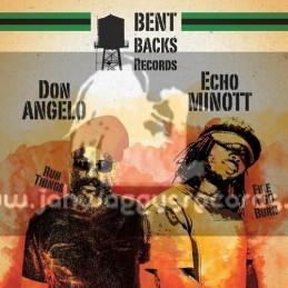"Bent Backs Records-12""-Fire A Go Burn / Echo Minott + Run Things / Don Angelo"