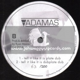 """Adamas-12""""-Dubplate-Tell It Like It Is / Mikey General ~ Only 200 Cut"""