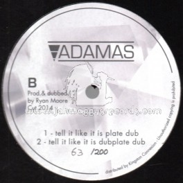 "Adamas-12""-Dubplate-Tell It Like It Is / Mikey General ~ Only 200 Cut"