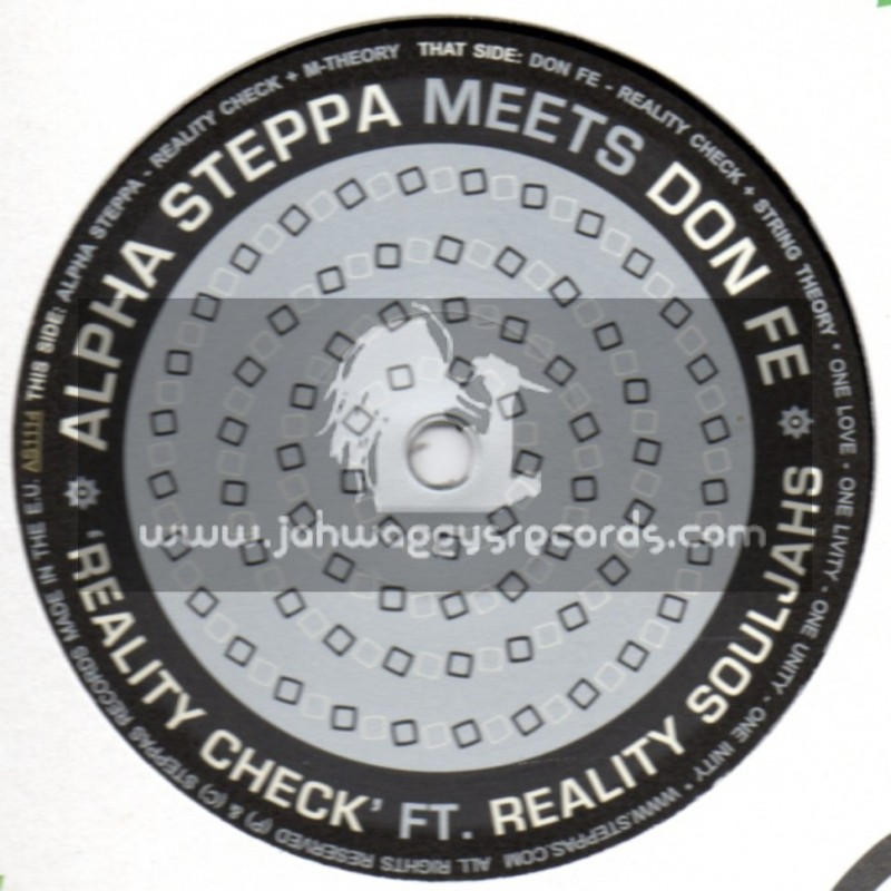 """Steppas Records-12""""-Reality Check / Reality Soldiers - Alpha Steppa Meets Don Fe"""