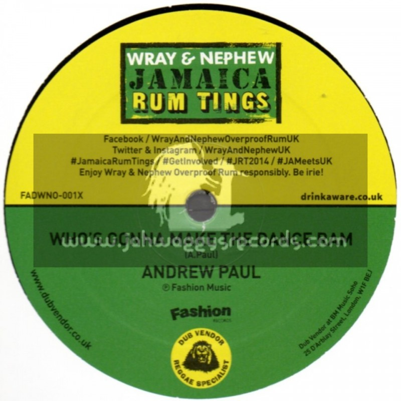 """Fashion Records-10""""-Whos Gonna Make The Dance Ram / Andrew Paul"""