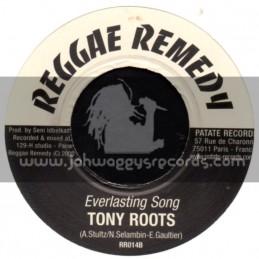 """Reggae Remedy-7""""-Everlasting Song / Tony Roots + I Will Be Proud / Takana Zion"""