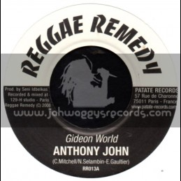 "Reggae Remedy-7""-Gideon World / Anthony John"