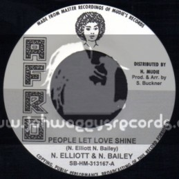 """Afro-7""""-People Let Love Shine + Too Much / N. Elliott & N. Bailey - The Jet Sets"""
