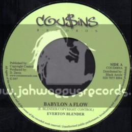 """Cousins Records-7""""-Babylon A Flow / Everton Blender + Concrete Jungle / Frankie Paul"""