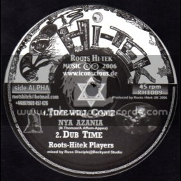 """Roots Hi Tek-10""""-Time Will Come + Simply Impossible / Nya Azania"""