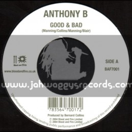 """Blood & Fire-7""""-Good And Bad / Anthony B + Man Of Jah Order / Luciano"""
