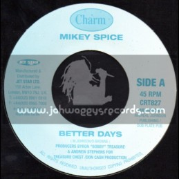 """Charm-7""""-Better Days / Mikey Spice"""