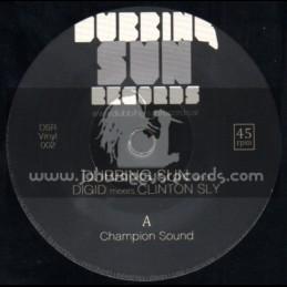 """Dubbing Sun Records-7""""-Champion Sound + Champion Stepper / Dubbing Sun, Digid Meets Clinton Sly"""