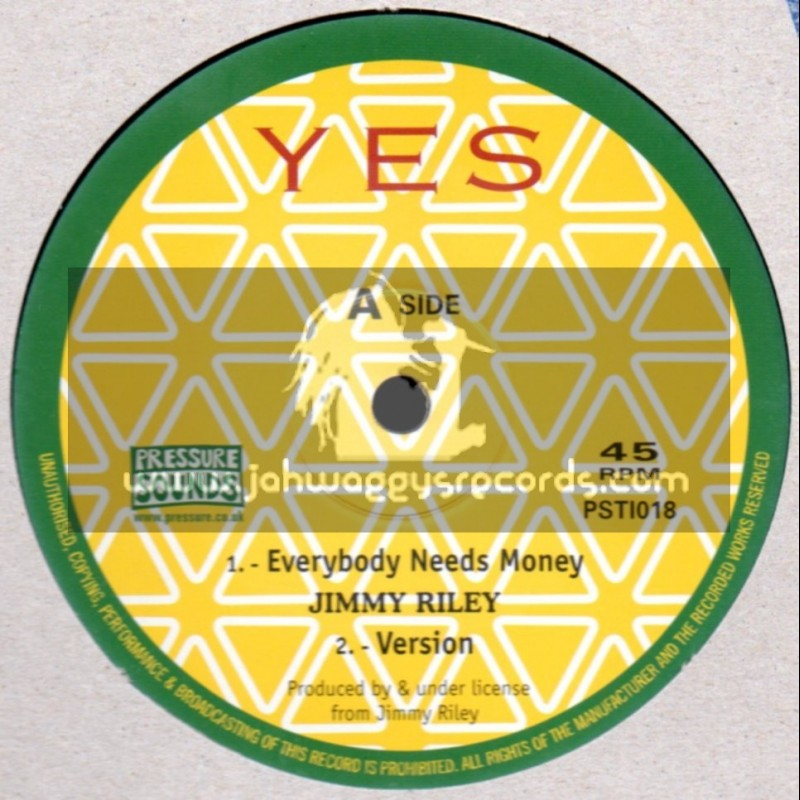 "Yes-10""-Everybody Needs Money + Reggae Music / Jimmy Riley"