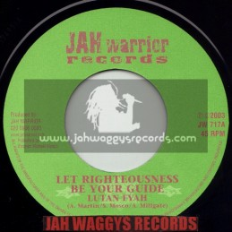 "JAH WARRIOR RECORDS-7""-LET RIGHTEOUSNESS BE YOUR GUIDE / LUTAN FYAH"