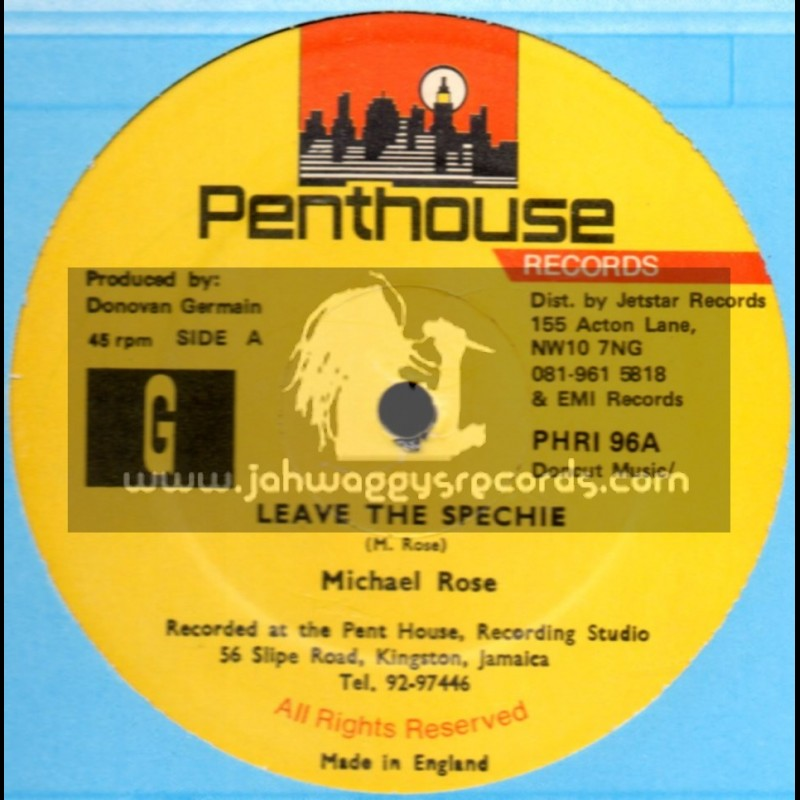 """Penthouse-12""""-Leave The Spechie / Michael Rose"""