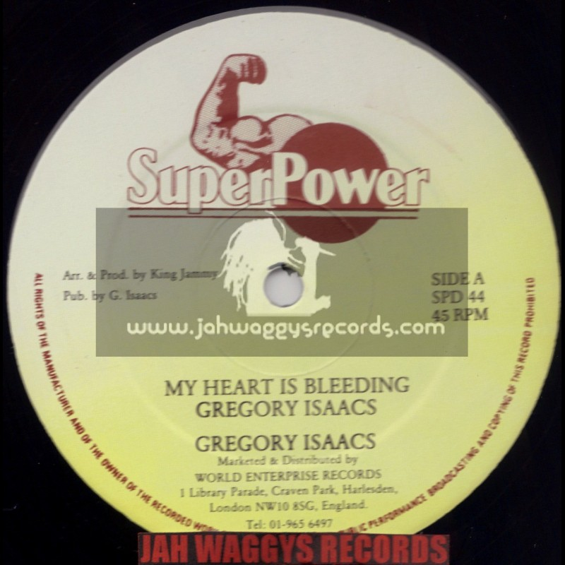 """SUPERPOWER-12""""-MY HEART IS BLEEDING / GREGORY ISAACS + BOOM WORK / BIG YOUTH"""