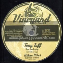 "Vineyard Records-12""-Give Jah Thanks And Praise / Tony Tuff + Sunshine Street / Ben Jammin"