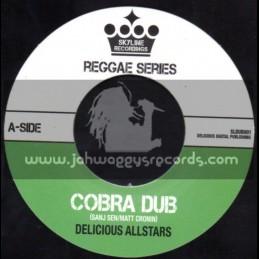 "Skyline Recordings-7""-Cobra Dub + Paper Boy / Delicious Allstars"