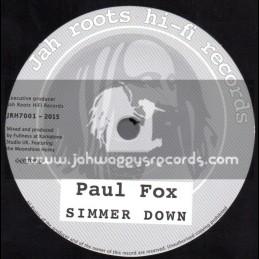 "Jah Roots Hi Fi Records-7""-Simmer Down / Paul Fox"