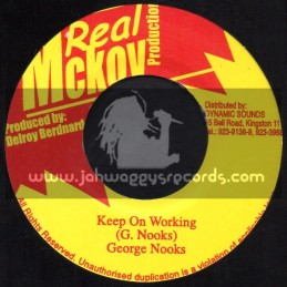 """Real Mckoy Production-7""""-Keep On Working / George Nooks"""
