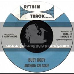 """Rythem Track Records-7""""-Busy Body / Anthony Selassie"""