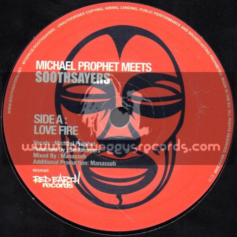 """Red Earth Records-7""""-Love Fire / Michael Prophet Meets Soothsayers"""