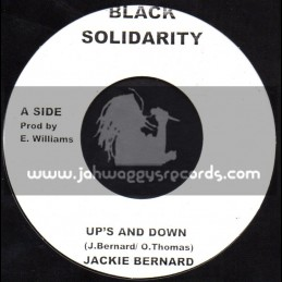 "Black Solidarity-7""-Ups And Down / Jackie Bernard"