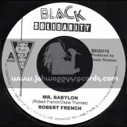 "Black Solidarity-7""-Mr Babylon / Robert French"