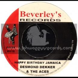 "Beverleys Records-7""-Happy Birthday Jamaica + It Pays / Desmond Dekker & The Aces"