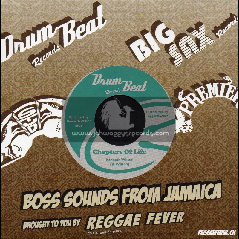 """Drum Beat-7""""-Chapters Of Life / Kenneth Wilson + Good Life / Drum Beat All Stars"""