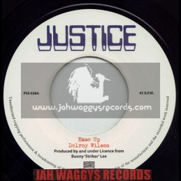 """JUSTICE(PRESSURE SOUNDS)-7""""-EASE UP / DELROY WILSON"""