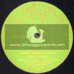 """Mystic Red Corperation-10""""-Aforethought / Keety Roots 1993"""