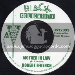 """Black Solidarity-7""""-Mother In Law / Robert French"""