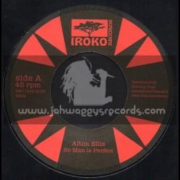 """Iroko Records-7""""-No Man Is Perfect / Alton Ellis"""