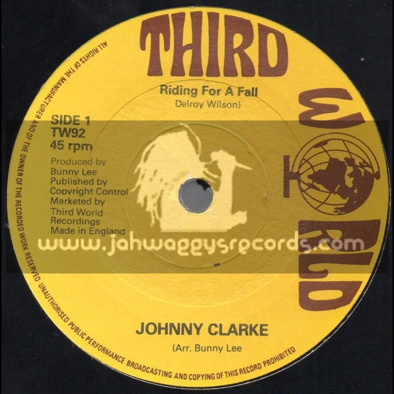 """Third World-7""""-Riding For A Fall / Johnny Clarke"""