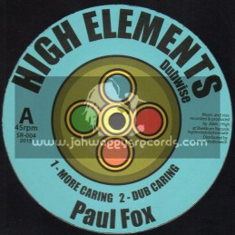 """High Elements Dubwise-12""""-More Caring / Paul Fox"""