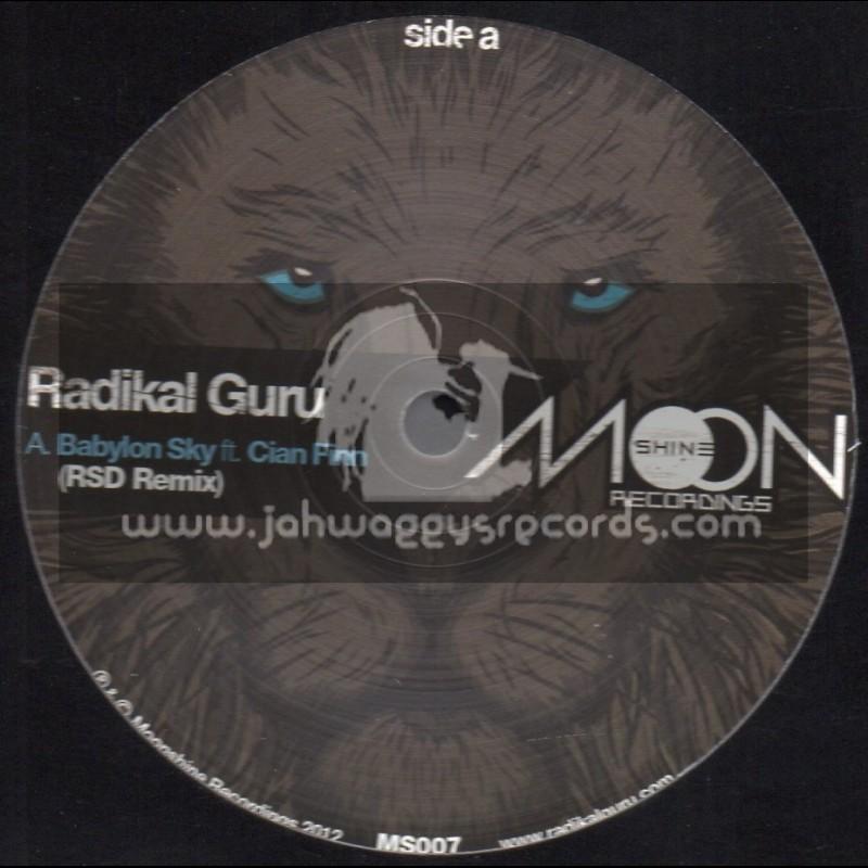 "Moonshine Recordings-12""-Babylon Sky / Cian Finn + Dread Commandments / Killawat Remix + This Applies / Hatti Vatti Remix"