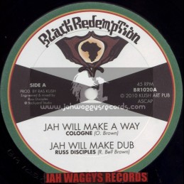 """BLACK REDEMPTION-10""""-JAH WILL MAKE A WAY / COLOGNE + ALWAYS FARI / TURBULENCE"""