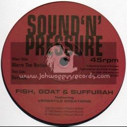 "Sound N Pressure-12""-Warn The Nation / Fish Goat & Suffurah Featuring Versatile"