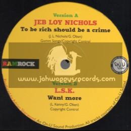 "Ramrock-12""-To Be Rich Should Be A Crime / Jeb Joy Nichols + Want More / L.S.K"