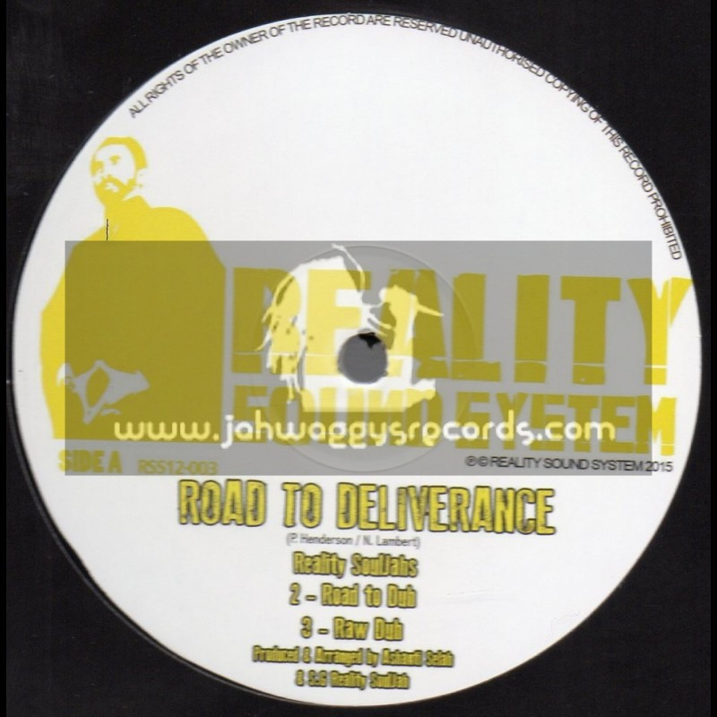 """Reality Sound System-12""""-Road To Deliverance / Reality Souljahs + Jah Golden Pen / Reality Souljahs"""