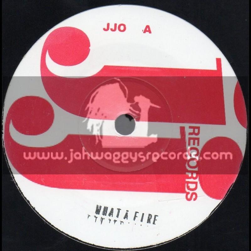 """J J Records 7"""" What A Fire/Ethiopans"""