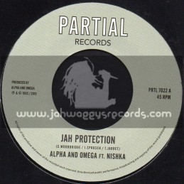 "Partial Records-7""-Jah Protection / Alpha and Omega Feat. Nishka"