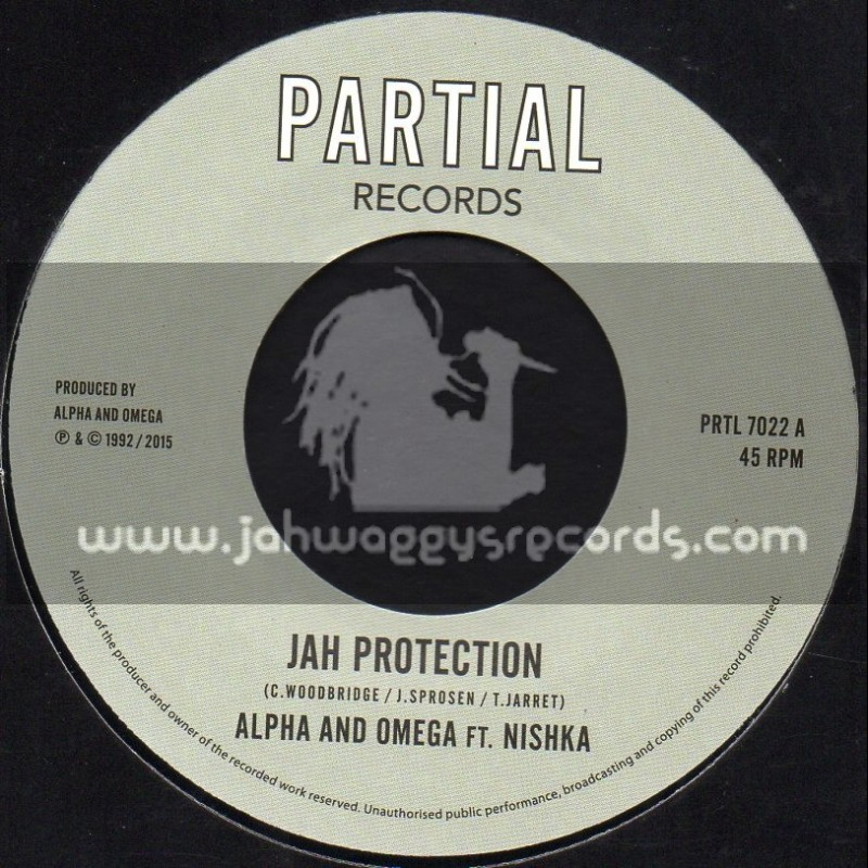 """Partial Records-7""""-Jah Protection / Alpha and Omega Feat. Nishka"""