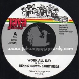 "Java Sound-7""-Work All Day / Dennis Brown - Barry Biggs"