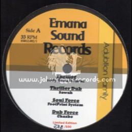 """Emana Sound Records-12""""-Thriller/Jacko+Soul Force / FootPrint System + Save Your Planet/Prayanam+Kind David/Stepper Alliance"""