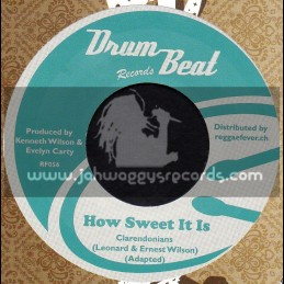 """Drum Beat Records-7""""-How Sweet It Is / Clarendonians + Drum Beat Special / Michael Martin & Hippy Boys"""