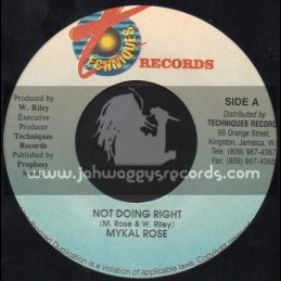 """Techniques-7""""-Not Doing Right / Mykal Rose"""