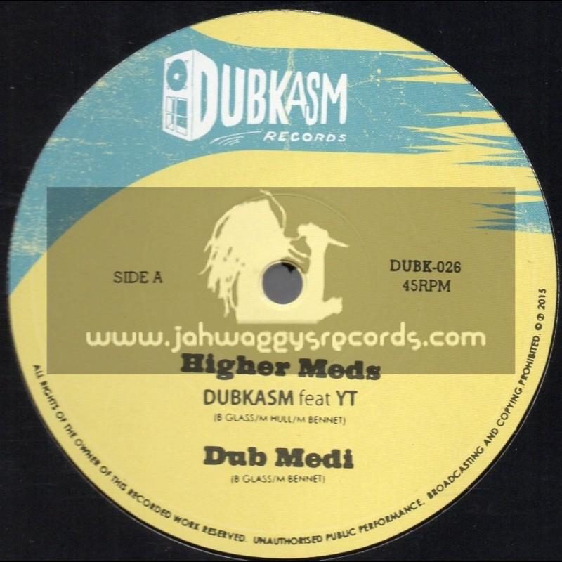 "Dubkasm Records-12""-Higher Meds / Dubkasm Feat. YT + Coming In Ruff / Dubkasm Feat. Rudey Lee"