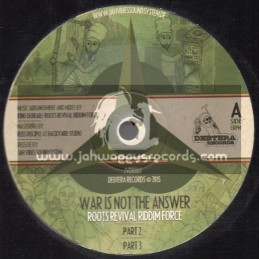 "Debtera Records-12""-War Is Not The Answer / Roots Revival Riddim Force + Onward Forward To Zion / Trulaikes"